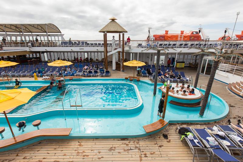 Pool On Carnival Inspiration Cruise Ship