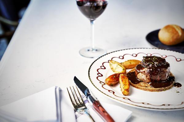 Filet de Boeuf Poele from Le Mer, a new on board restaurant by Emmanuel Renaut, debuting on Sky Princess (Photo: Princess Cruises)