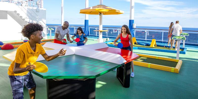 Kids Playing Ping Pong (Photo: Carnival Cruise Line)