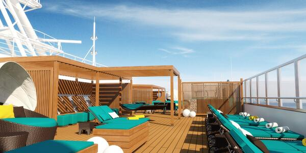 The Serenity Deck on Carnival Sunrise (Photo: Carnival Cruise Line)