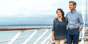 Couple on Deck (Photo: Holland America)