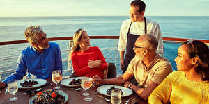 Dining with the chef on a Seabourn cruise (Photo: Seabourn Cruise Line)