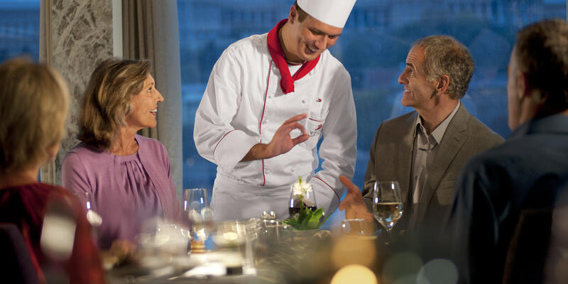 Chef Explaining Dish to Guests (Photo: Viking Ocean)