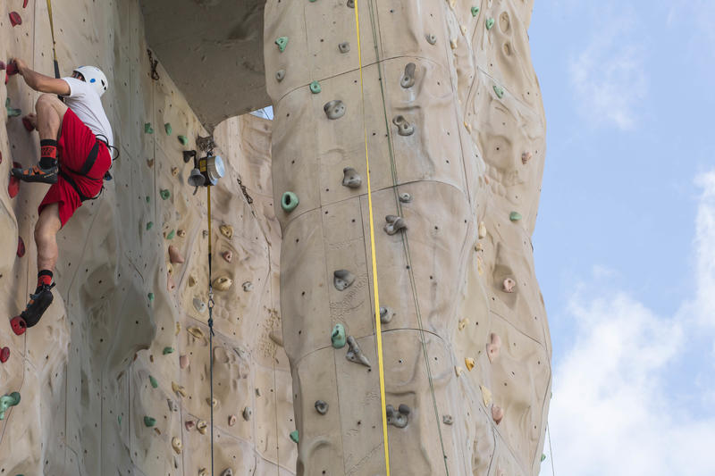 Rock Climbing Wall on Liberty of the Seas
