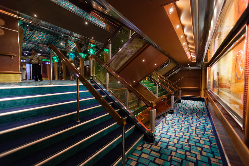 Hallways, Stairways and More on Carnival Glory Ship ...