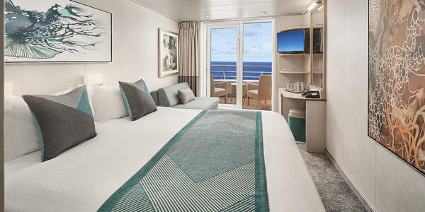 Norwegian Sky Cruise Ship's Updated Balcony Cabin (Photo: Norwegian Cruise Line)