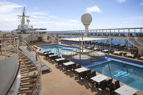 Norwegian Sky's Updated Pool Deck (Photo: Norwegian Cruise Line)