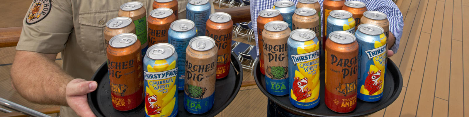 Carnival Cruise Line has become the first cruise line to can and sell its own private label craft beer.  (Photo: Carnival Cruise Line)