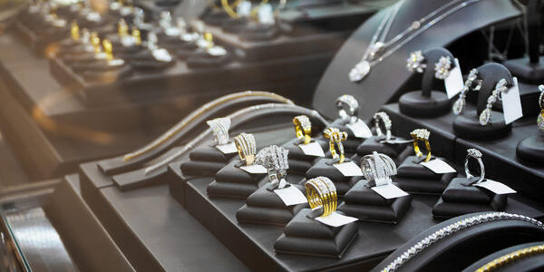 Expensive Jewelry on Display (Photo: Kwangmoozaa/Shutterstock)