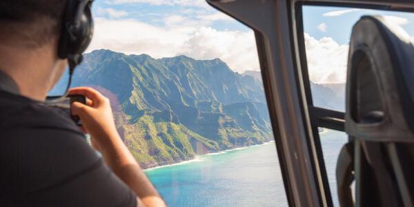 Helicopter Ride Near Napali Coast, Kauai, Hawaii (Photo: kyrien/Shutterstock)