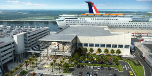 Artist rendering of the refurbished Terminal 3 at Port Canaveral  (Image: Carnival Cruise Line)