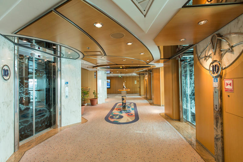 Elevators on Radiance of the Seas