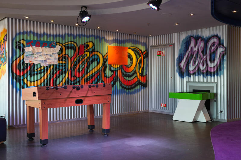 Graffiti's Teen Club on MSC Divina