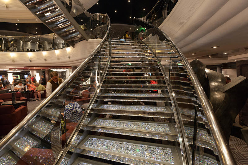 Swarovski Crystal Staircase on MSC Divina