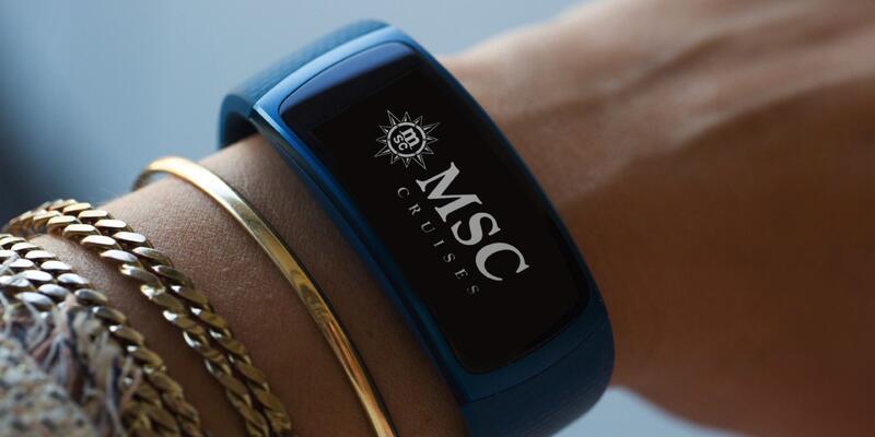 Samsung smart bracelets for MSC for Me (Photo: MSC Cruises)