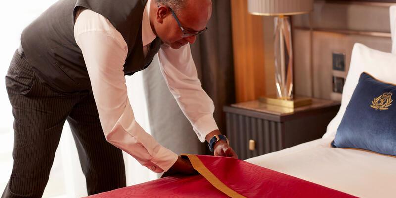 Cunard Butler Fixing Bed (Photo: Cunard Cruises)