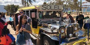 Passengers taking a Jeepney in Manila (Photo: Adam Coulter/Cruise Critic)