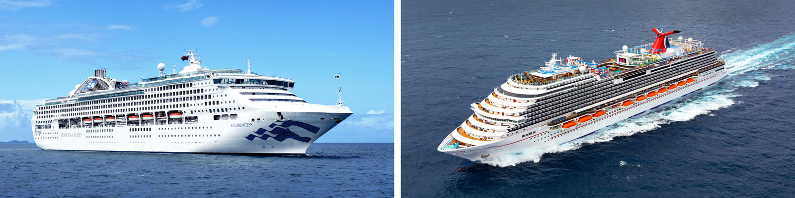 Princess Cruises vs. Carnival Cruise Line (Photo: Princess & Carnival)