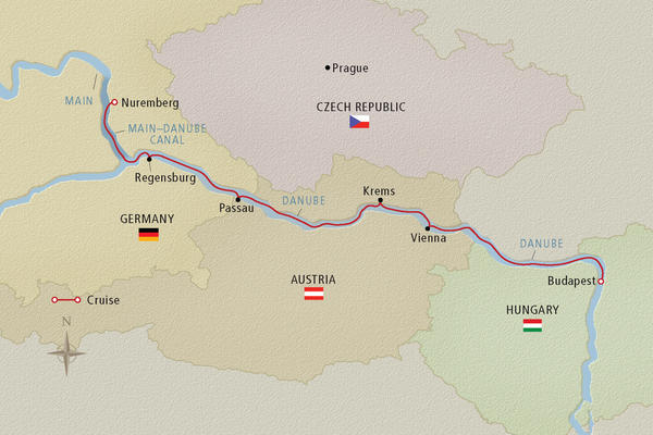 Map Of Germany And Hungary.Danube River Cruise Map Cruise Critic