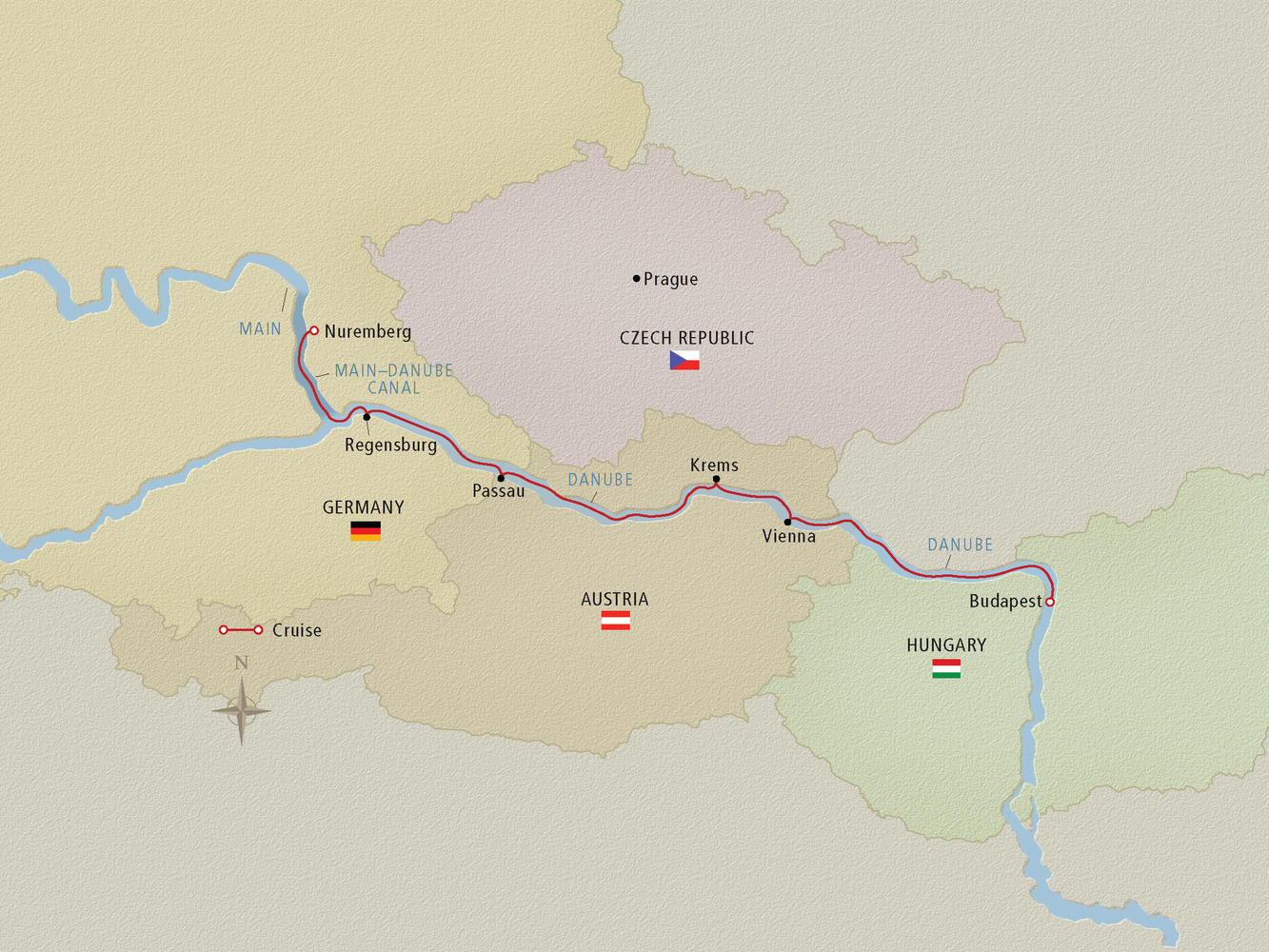 Danube River Cruise Map - Cruise Critic on