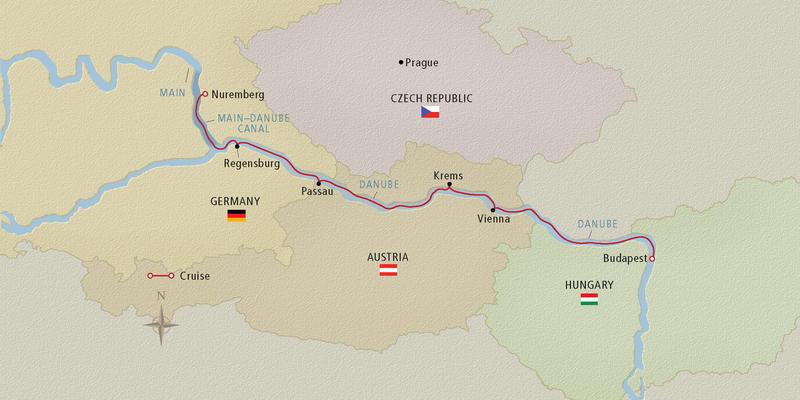 Map of the Upper Danube River (Image: Viking River Cruises)