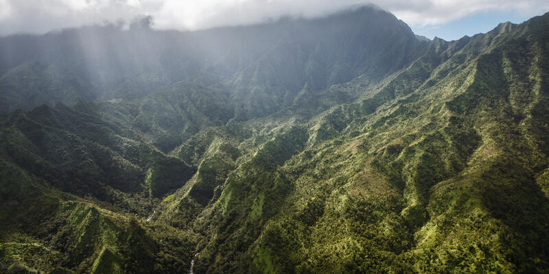The Heart of Kauai, The Aerial View of Mount Waialeale (Photo: Hotaik Sung/Shutterstock)
