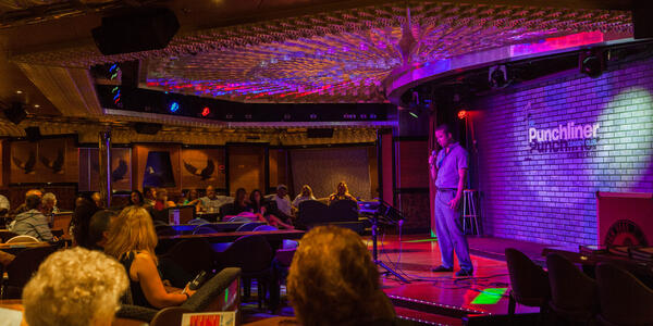 Carnival's Punchliners Comedy Club (Photo: Cruise Critic)