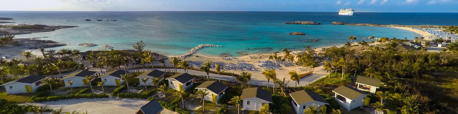 Cabanas on Great Stirrup Cay (Photo: Norwegian Cruise Line)