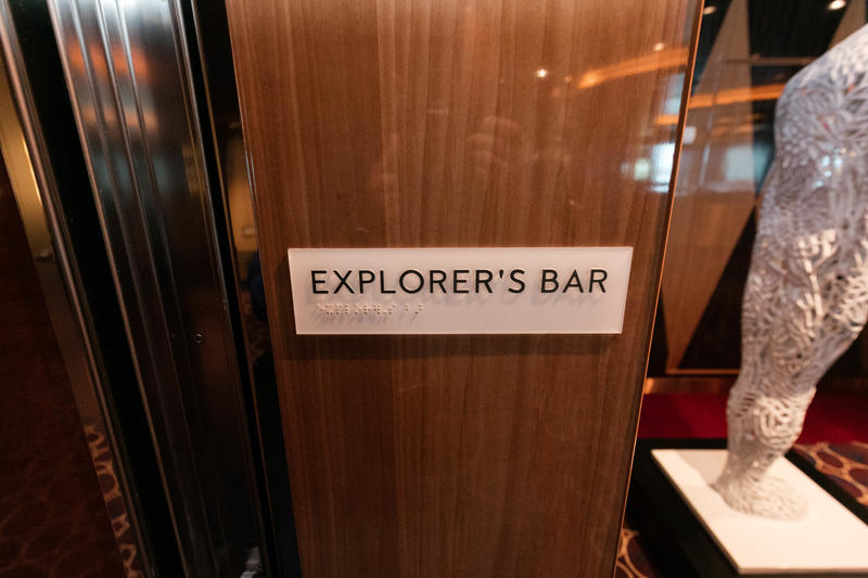 Explorer's Bar on Koningsdam