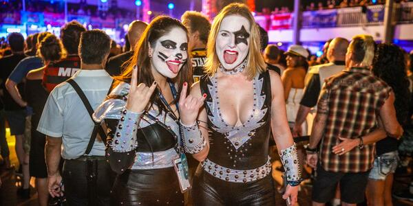 Costumes on the 2018 Kiss Kruise (Photo: Will Byington/Sixthman)
