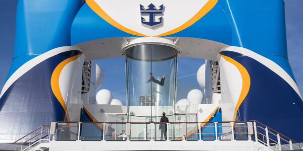 Skydiving Onboard Quantum of the Seas (Photo: Royal Caribbean International)