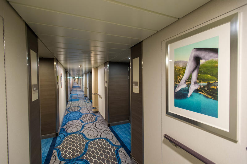 Hallways on Harmony of the Seas