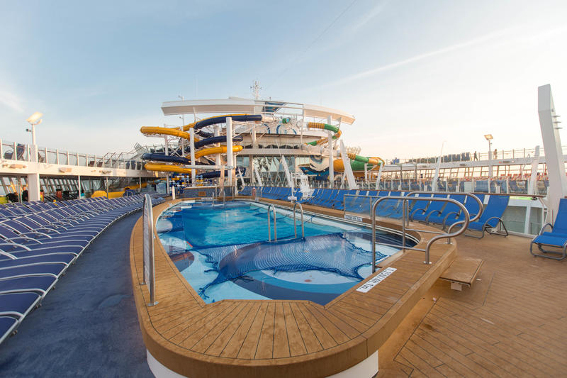 The Main Pool on Harmony of the Seas