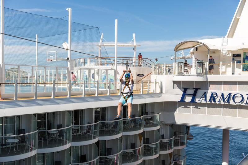 Zip Line on Harmony of the Seas