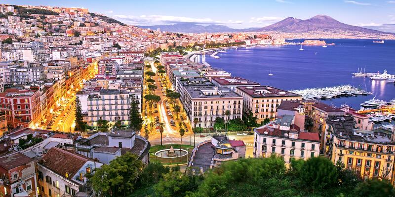 Naples at Night, Campania, Italy (Photo: Mariia Golovianko/Shutterstock)