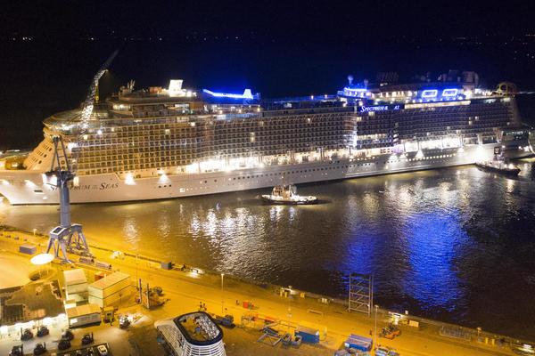 Spectrum of the Seas at the Meyer Werft Shipyard in Papenburg, Germany (Photo: Royal Caribbean International)