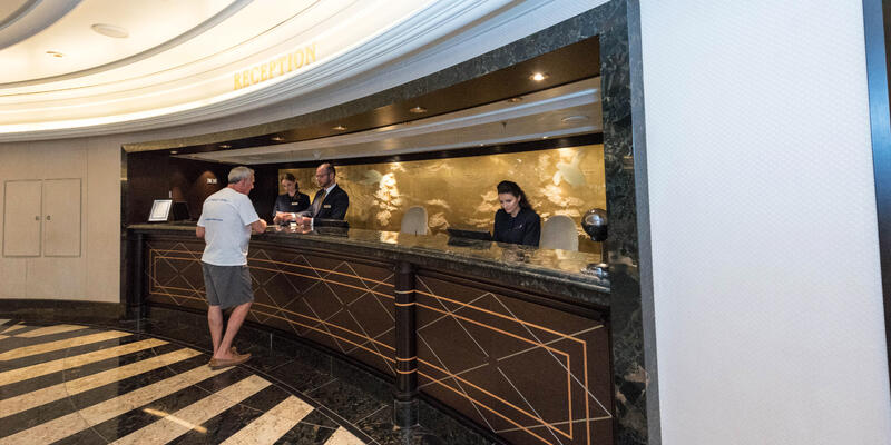Visit the guest services desk on your ship to report lost luggage (Photo: Cruise Critic)