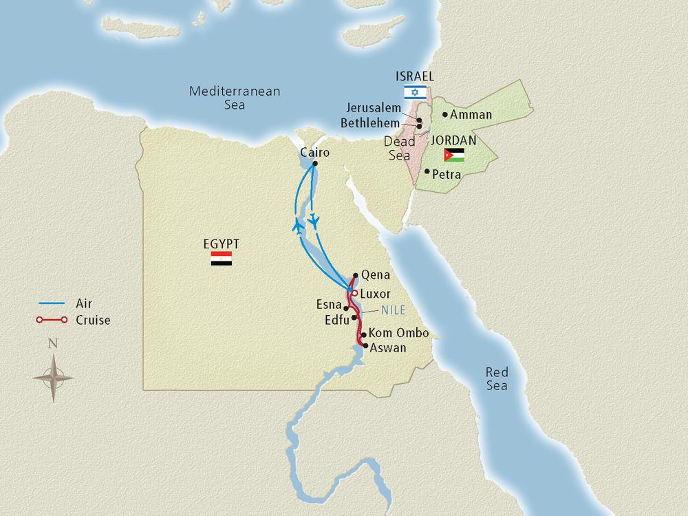 Nile River Cruise Map Cruise Critic