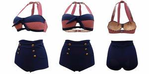 Nautical High-Waisted Swimsuit (Photo: Amazon)