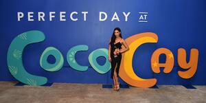 Actress Shay Mitchell previews Perfect Day at CocoCay, Bahamas (Photo: Royal Caribbean)