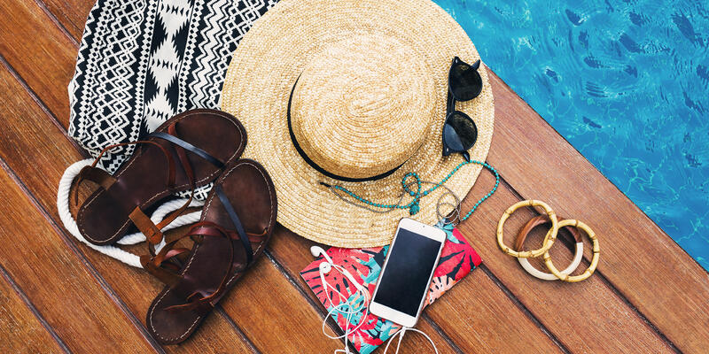 Personal Belongings Near Pool (Photo: Svitlana Sokolova/Shutterstock)