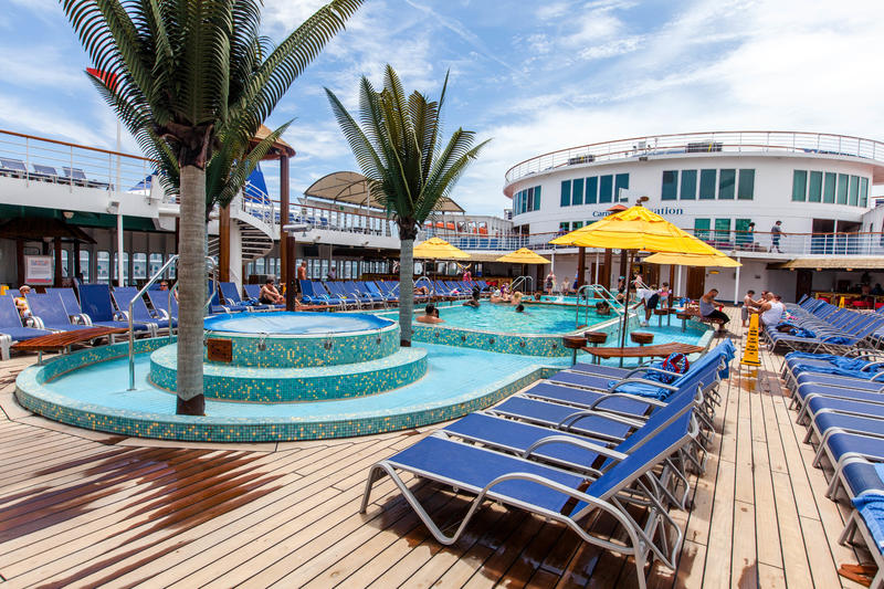 Pool On Carnival Sensation Cruise Ship