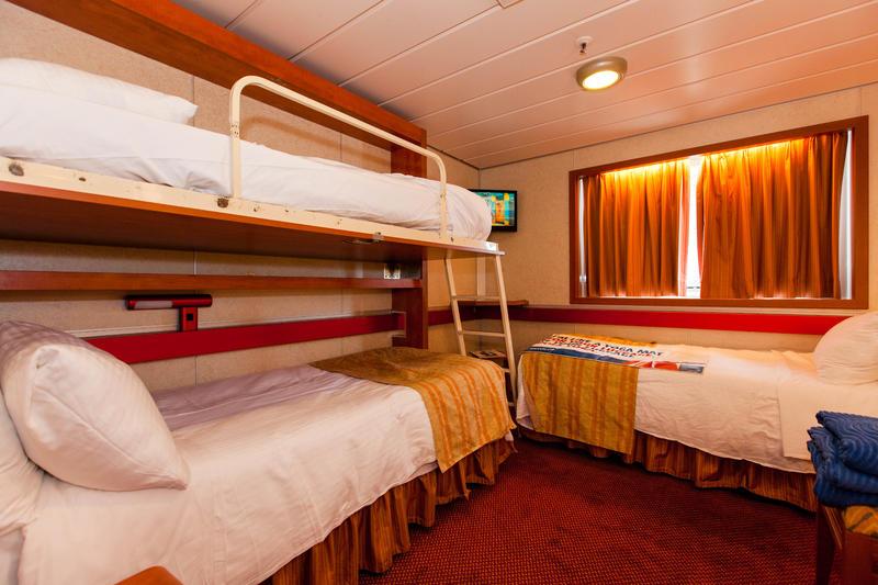 Oceanview Cabin E152 on Carnival Sensation, Category 6E  |Carnival Sensation Ocean View