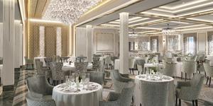 Rendering of the Compass Rose restaurant on Seven Seas Splendor