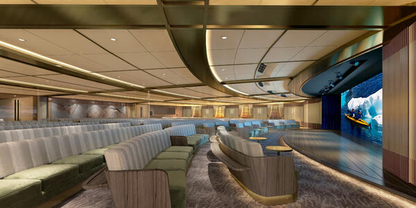 Rendering of Discovery Center theater on Seabourn Venture