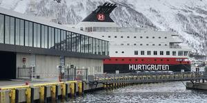 Hurtigruten's MS Nordkapp docked in Tromso. (Photo: Adam Coulter)