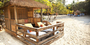 Barefoot Beach Cabanas on Labadee (Photo: Royal Caribbean International)