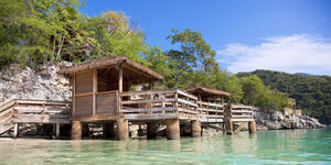 Nellie's Overwater Beach Cabanas on Labadee (Photo: Royal Caribbean International)