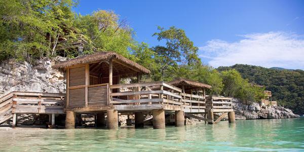 Nellie's Overwater Beach Cabanas on Labadee (Photo: Royal Caribbean International)