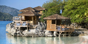 Barefoot Beach Overwater Cabanas on Labadee (Photo: Royal Caribbean International)